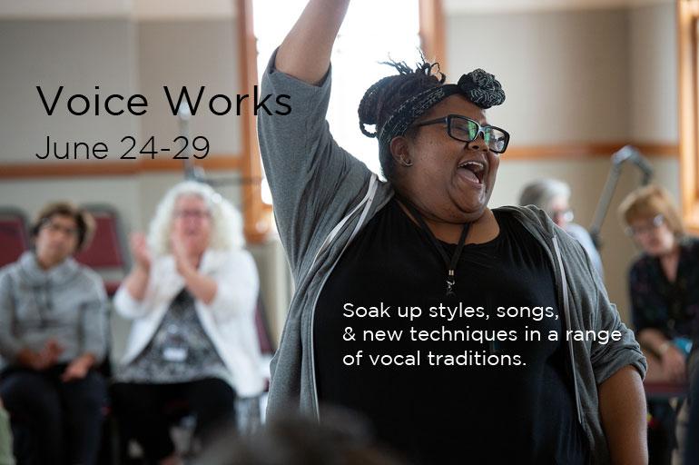 Voice Works – A Workshop for Singers | Centrum
